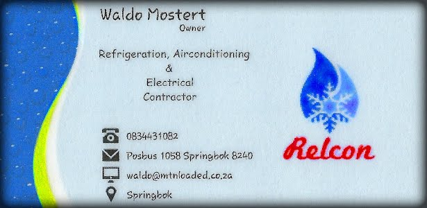 Relcon - Refrigeration, Air-conditioning and Electrical contractor in Springbok Namakwaland